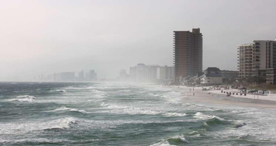 storm on beach